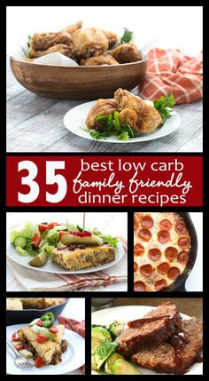 35 Best Low Carb Family Friendly Dinner Recipes - No more dinner time battles! These 35 kid-friendly keto dinners are sure to please the whole family. Easy Healthy Dinners, Healthy Dinner Recipes, Low Carb Recipes, Food Dinners, Appetizer Recipes, Almond Joy, 500 Calories, Key Lime, Crepes