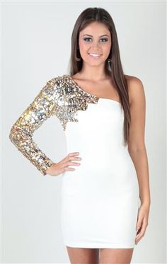 Deb Shops #homecoming #dress spaghetti strap, sequin, spliced ...