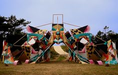 Juxtapoz Magazine - Clemens Behr x Low Bros in Lithuania Installation Art, Art Installations, Stage Design, Behr, Outdoor Art, Lithuania, Graffiti Art, Urban Art, Yorkie