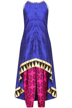 Masaba presents Blue incut kurta and tree print dhoti pants set available only at Pernia's Pop Up Shop. Latest Designer Sarees, Designer Dresses, Salwar Kameez, Dresser, Pernia Pop Up Shop, Tree Print, Lehenga, Anarkali, Dress Outfits