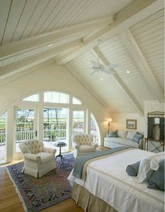 Attic Bedroom ceiling & sitting area