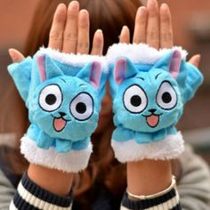 Fairy Tail Happy Gloves Shut Up And Take My Yen : Anime & Gaming Merchandise
