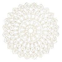 Wanddeko Mandala aus goldfarbenem Metalldraht D80 -