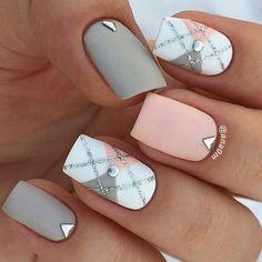 13 beautiful nail art designs for summer 2017 - Nails - # for # . - 13 beautiful nail art designs for summer 2017 – nails – - Pink Nails, Gel Nails, Nail Polish, Grey Matte Nails, Shellac Nail Art, Matte Pink, Nail Nail, Beautiful Nail Art, Gorgeous Nails