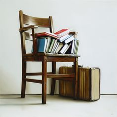 Chair, Books, Luggage (Phase II) / 24 x 24 / oil on canvas / 2013
