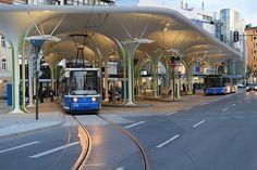 Münchner freiheit bus/tram station (Leopoldstraße, Schwabing)