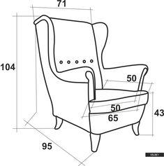 Diy Furniture Chair, Handmade Wood Furniture, Drawing Furniture, Diy Sofa, Diy Chair, Furniture Styles, Home Decor Furniture, Furniture Design, Sofa Bed Design