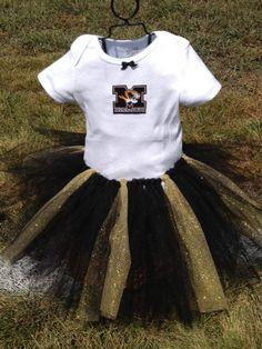 Baby & Toddler Clothing Girls' Clothing (newborn-5t) Tutu Could Tour Girls Black Gold Missouri Tiger Tutu Skirt So Small