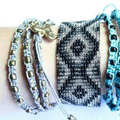 "Ketzali Jewelry - Ketzali ""Wachinik Handmade Triple Wrap Bracelet"""