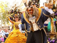 A Christmas Fantasy Parade: Belle and Beast | Flickr