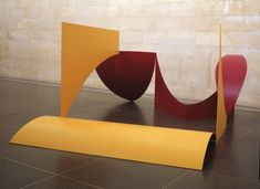 Artwork page for 'Dunstable Reel', Phillip King, 1970 Abstract Sculpture, Sculpture Art, Mild Steel Sheet, Environmental Sculpture, Anthony Caro, Making A Model, Jewish Museum, Tate Gallery, Artistic Installation