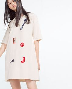 Image 3 of PATCH DRESS from Zara