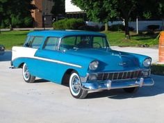 Old Trucks, Chevy Trucks, My Dream Car, Dream Cars, Vintage Cars, Antique Cars, Chevy Nomad, Fancy Cars, Chevrolet Bel Air
