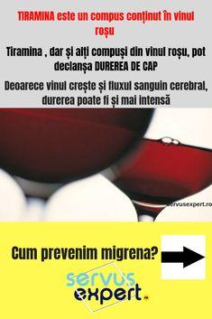 19 metode să ții migrena sub control - Servus Expert Red Wine, Alcoholic Drinks, Health, Wine, Health Care, Liquor Drinks, Alcoholic Beverages, Liquor, Salud