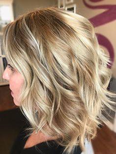 Honey blonde with a touch of summer