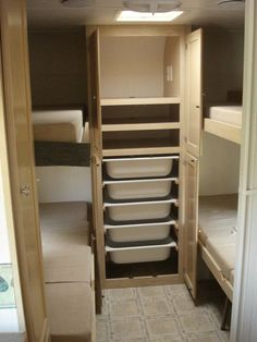 ikea storage in RV; cool bins that you can bring inside your house to pack