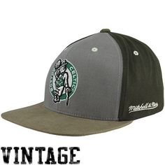 """Mitchell & Ness Boston Celtics Clay Adjustable Snapback Hat â?"""" Graphite/Charcoal by Mitchell & Ness. $19.95. Team logo. Flat bill. Adjustable plastic snap strap. Quality embroidery. Structured fit. Mitchell & Ness Boston Celtics Clay Adjustable Snapback Hat - Graphite/CharcoalOfficially licensed NBA productAdjustable plastic snap strapImportedQuality embroidery100% CottonStructured fitTeam logoFlat bill100% CottonQuality embroideryTeam logoAdjustable plastic snap strapSt..."""