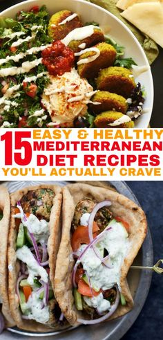 Mediterranean diet recipes that you will actually crave. I'm so excited that… Mediterranean diet recipes that you will actually crave. I'm so excited that I found these delicious Mediterranean recipes! Easy Mediterranean Diet Recipes, Mediterranean Dishes, Mediterranean Diet Breakfast, Greek Recipes, Raw Food Recipes, Healthy Recipes, Healthy Treats, Recipes Dinner, Heart Healthy Meals