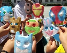 Crazy gumball eyes in ice cream...I totally remember getting these all the time in my childhood.  They were the best!