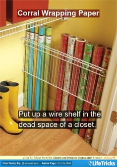 Closets and Drawers Organization - Corral Wrapping Paper