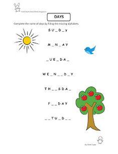 Free Fun Worksheets For Kids: Free Printable Fun Worksheet : EVS - Weekdays Mental Maths Worksheets, Homeschool Worksheets, Hindi Worksheets, Social Studies Worksheets, English Worksheets For Kids, 1st Grade Worksheets, Kindergarten Worksheets, English Grammar For Kids, English Lessons For Kids