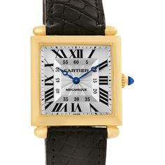 4320 Cartier Tank Obus Yellow Gold Privee Paris CPCP Manual Watch W1527551 SwissWatchExpo
