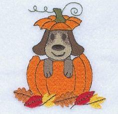Dog in Pumpkin - 4x4 | Halloween | Machine Embroidery Designs | SWAKembroidery.com Starbird Stock Designs