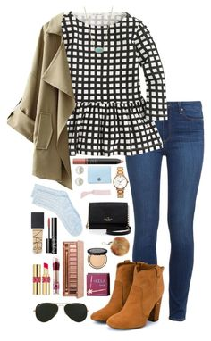"""""""church outfit <3"""" by thatprepsterlibby ❤ liked on Polyvore featuring Paige Denim, J.Crew, Laurence Dacade, NARS Cosmetics, Kate Spade, Majorica, Lucky Brand, Kendra Scott, Tory Burch and Splendid"""