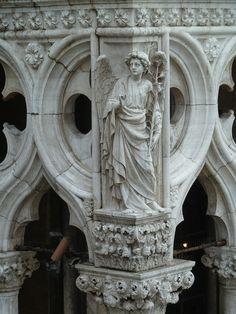 Doge's Palace: Archangel Gabriel. Venice, Italy