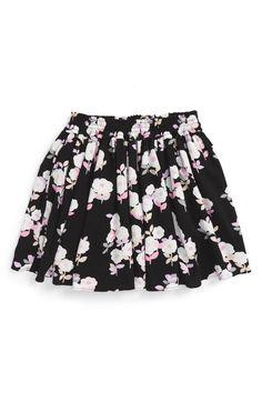 Main Image - kate spade new york posy smocked skirt (Big Girls)