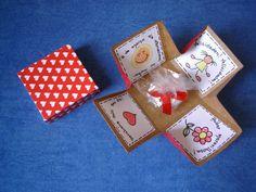 Passos do pedagogo: Lembrancinha dia da Mulher - Caixa cartão e Porta- lixa