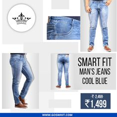 Planning for the first date? Goswhit smart fit dark blue jeans will be perfect to make you look stunning. Now available at 44% off.  #Denim #BlueJeans #Fashion #style #menjeans
