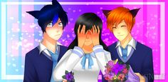 request by peoples in twitter~ Aphmau, Ein and Kai for ya Characters © Aphmau art by jettnight