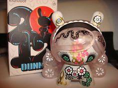 "Custom Dunny Baloon | Kidrobot Dunny 3"" 2012 Junko Mizuno Soda Pop Clear Purple Hair Mint ..."