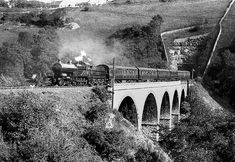 Disused Stations: Monsal Dale Station LMS Compound is seen here passing… Steam Trains Uk, Abandoned Castles, Abandoned Mansions, Abandoned Places, Old Train Station, Disused Stations, Steam Railway, Abandoned Amusement Parks, British Rail