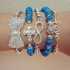Arm Candy Set  Beaded Bracelets set...too pretty