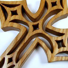 Cross / Diamond Design / Mid Size 7 inch / Ash Wood