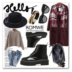"""""""& ROMWE & 3/VIII"""" by nura-akane ❤ liked on Polyvore featuring Simons, Le Specs and M&Co"""