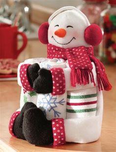 Snowman Kitchen Towel Gift Set