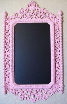 Pink-Baroque Ornate Vintage Frame Chalkboard