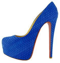 Christian Louboutin Daffodile Watersnake Pumps