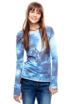 Laura Galactic Thumbhole Long-Sleeve - Tops - Clothing - dELiA*s
