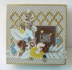 Upcycled mooncake box using Blue Fern Studios chipboard.  Decorated-mooncake-box by Yam_Yvonne1, via Flickr