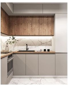 HOW TO MAKE YOUR SMALL KITCHEN LOOK BIGGER| KITCHEN DESIGN – InkARCH ASSOCIATES Kitchen Room Design, Home Room Design, Kitchen Cabinet Design, Modern Kitchen Design, Home Decor Kitchen, Interior Design Kitchen, Home Kitchens, Modern Kitchen Cabinets, Very Small Kitchen Design