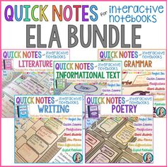 Quick Notes for Interactive Notebooks are simply 2D pages that match the information from each lesson in the Interactive Reading Literature Notebook. They come in 3 versions: 2D student-filled templates, 2D pre-filled templates, and digital interactive notebook templates. NOTE!