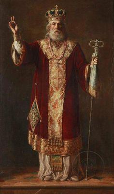 sveti Nikola Religious Paintings, Religious Art, Lion Tattoo Design, Biblical Art, Byzantine Art, Best Portraits, Saint Nicholas, Catholic Saints, Art Icon
