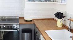 Ambiance+scandinave+dans+cette+cuisine+semi-ouverte