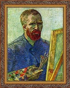 Vincent Van Gogh Self-portrait in Front of Easel Museum Quality Printed Art & Frame $8.99