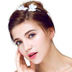 Flower Hairstyles, Wedding Hairstyles, Wedding Hair Flowers, Flowers In Hair, Band, Hair Styles, Accessories, Fashion, Flower Headbands