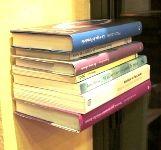 Estante invisible, soporte para libros pequeños.